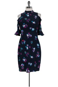 Rebecca Taylor short dress Floral Navy Bell Sleeve on Tradesy