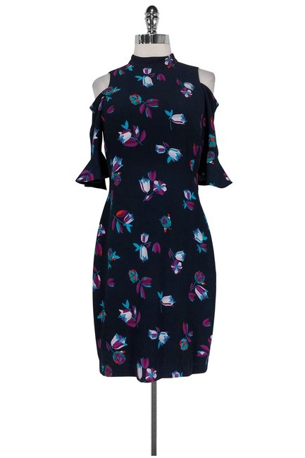 Rebecca Taylor short dress Floral Navy Bell Sleeve on Tradesy Image 1