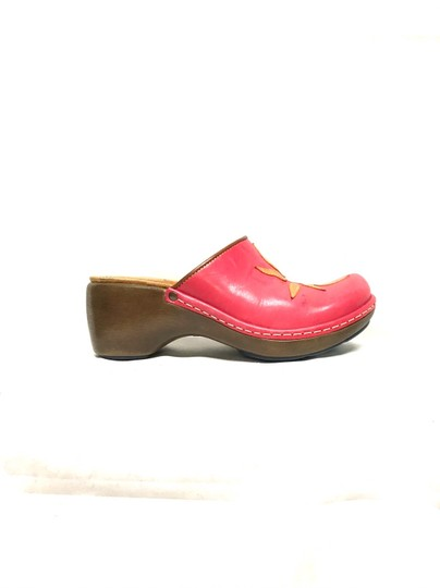Clarks Pink Mules Image 2