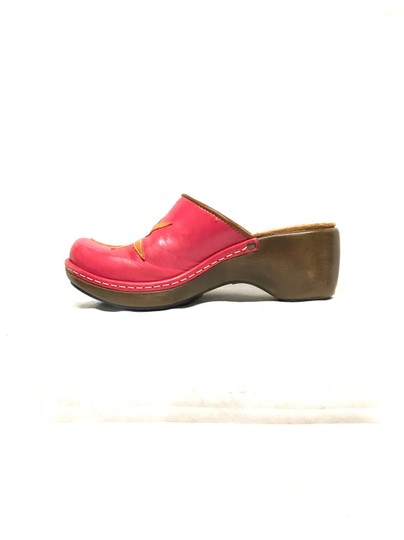 Clarks Pink Mules Image 3