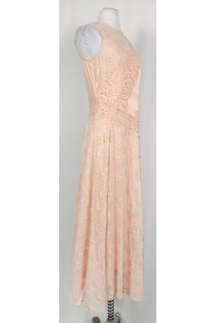 pink Maxi Dress by Rebecca Taylor Blush Lace Maxi Image 1