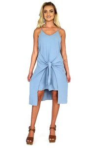 She + Sky short dress blue I Only Have Ties For on Tradesy