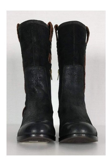 UGG Australia Brown Leather Jaspen Black Boots Image 1