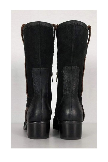 UGG Australia Brown Leather Jaspen Black Boots Image 3