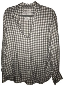 Frank & Eileen Button Down Shirt White and Grey