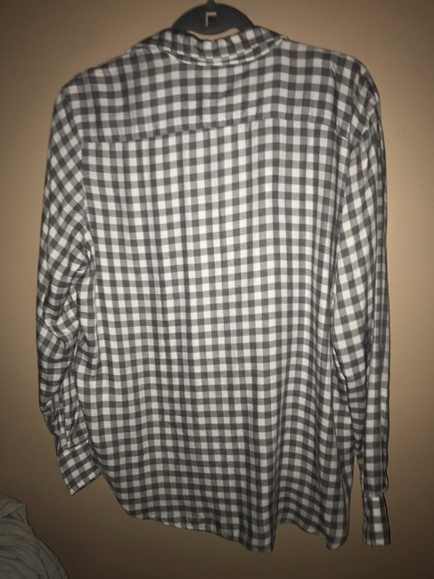 Frank & Eileen Button Down Shirt White and Grey Image 1