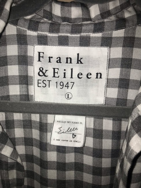 Frank & Eileen Button Down Shirt White and Grey Image 3