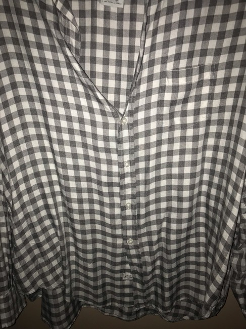 Frank & Eileen Button Down Shirt White and Grey Image 5