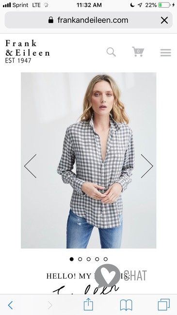 Frank & Eileen Button Down Shirt White and Grey Image 6