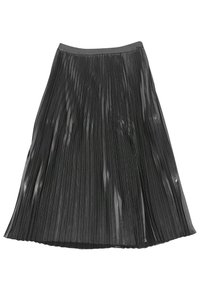 Trouve Metallic Pleated Skirt silver