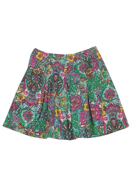 Lilly Pulitzer Paisley Print Flared Skirt Image 0