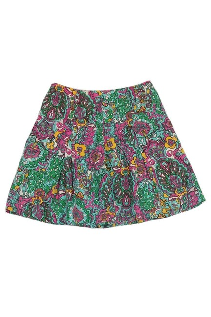 Lilly Pulitzer Paisley Print Flared Skirt Image 1