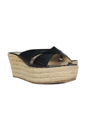 Jimmy Choo Espadrille Wedge Heels Black Pumps Image 0