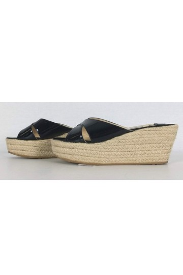 Jimmy Choo Espadrille Wedge Heels Black Pumps Image 2
