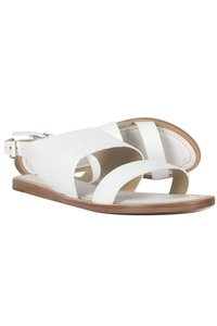 Lafayette 148 New York Leather White Sandals