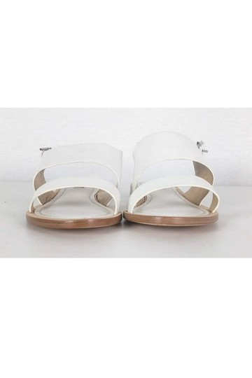 Lafayette 148 New York Leather White Sandals Image 1