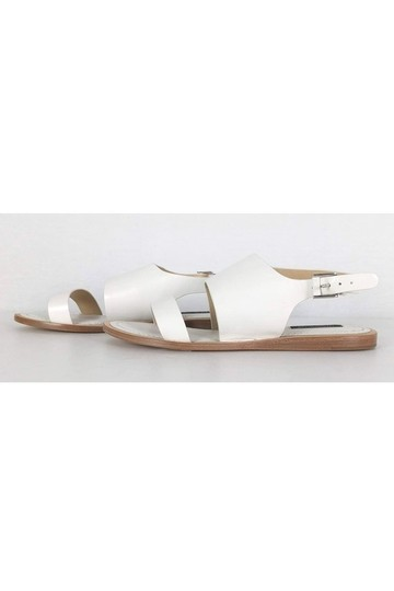 Lafayette 148 New York Leather White Sandals Image 2