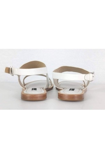 Lafayette 148 New York Leather White Sandals Image 3
