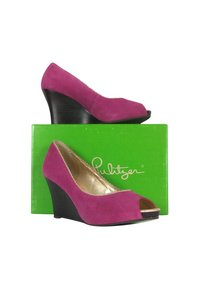 Lilly Pulitzer Passion Resort Pink Wedges