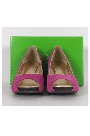 Lilly Pulitzer Passion Resort Pink Wedges Image 1