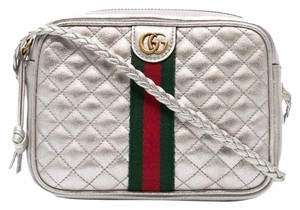 Gucci Web Laminated Marmont Mini Chain Chain Shoulder Bag