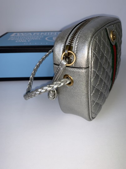 Gucci Web Laminated Marmont Mini Chain Chain Shoulder Bag Image 5