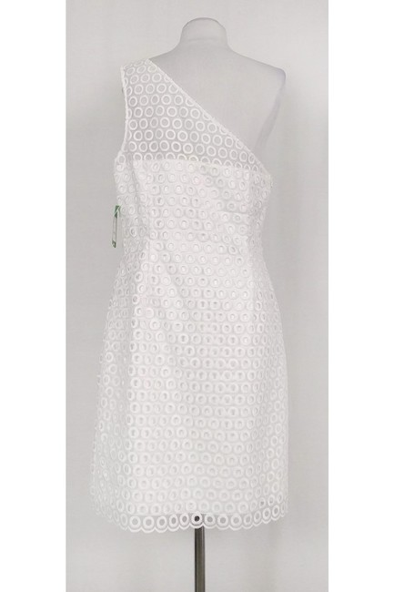 Lilly Pulitzer short dress White One Shoulder Embroidered on Tradesy Image 2