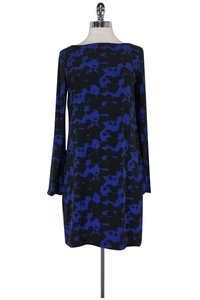 Nicole Miller short dress Blue Black Printed on Tradesy