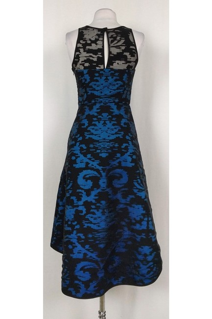 MILLY Blue And Black Mesh Gown Dress Image 2