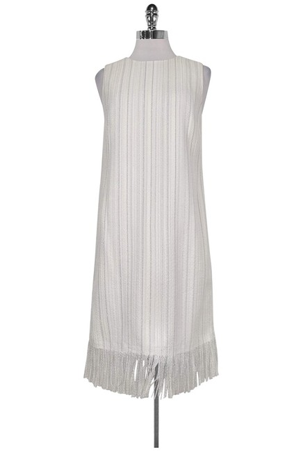 Karl Lagerfeld short dress White W/ Metallic Threads on Tradesy Image 0