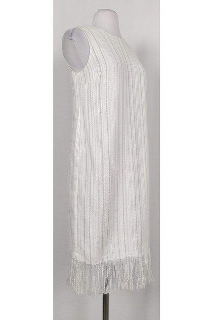 Karl Lagerfeld short dress White W/ Metallic Threads on Tradesy Image 1