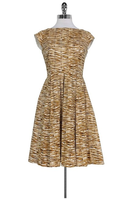 Kate Spade short dress Brown White Flared on Tradesy Image 0
