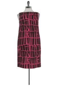 David Meister short dress Brown And Pink Shift on Tradesy