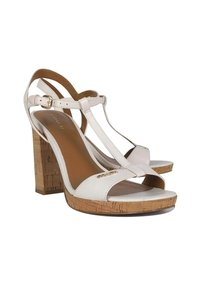 Coach Leather Cork White Sandals