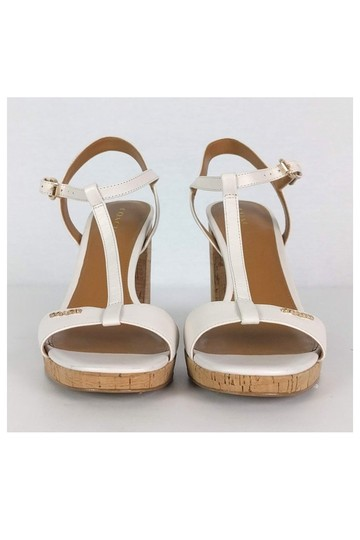Coach Leather Cork White Sandals Image 1