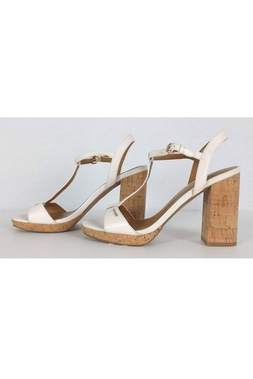 Coach Leather Cork White Sandals Image 2