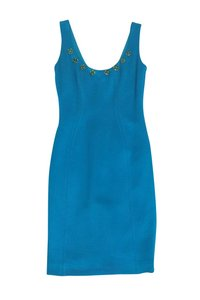 Versace short dress Blue Bright Fitted on Tradesy