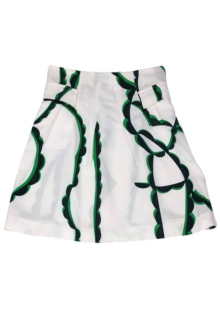 Marni Blue And Green Patterned Skirt white Image 0