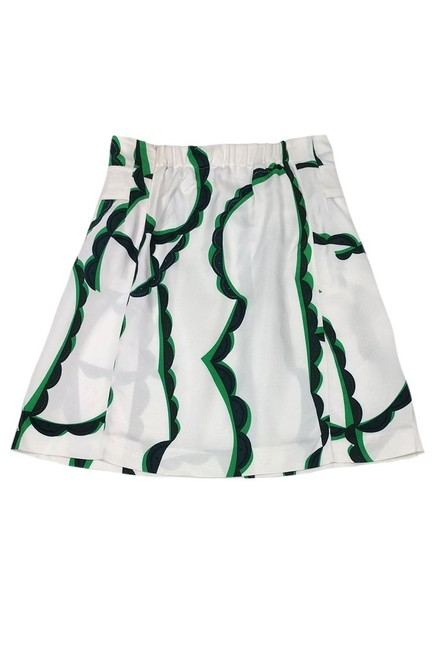 Marni Blue And Green Patterned Skirt white Image 1