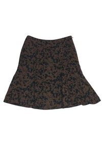 Akris Punto Black Flared Skirt Brown