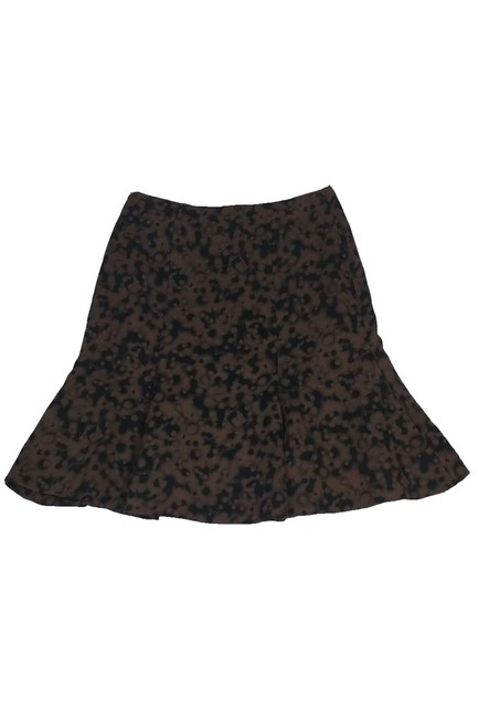 Akris Punto Black Flared Skirt Brown Image 1