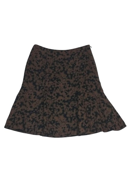 Akris Punto Black Flared Skirt Brown Image 2