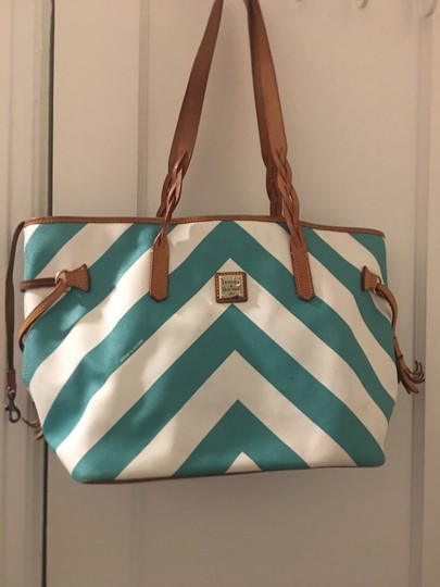 Dooney & Bourke Tote in Blue and white Image 1