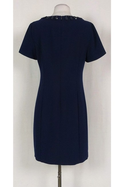 Trina Turk short dress Navy Jeweled Sheath on Tradesy Image 2