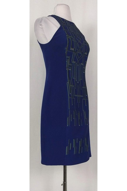 Karen Millen short dress blue Embroidered Sheath on Tradesy Image 1