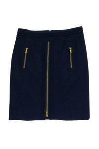 Tory Burch Navy Gold Zip Pencil Skirt