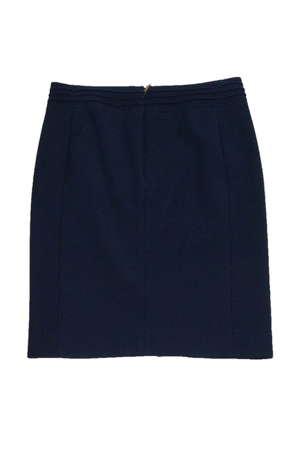 Tory Burch Navy Gold Zip Pencil Skirt Image 1