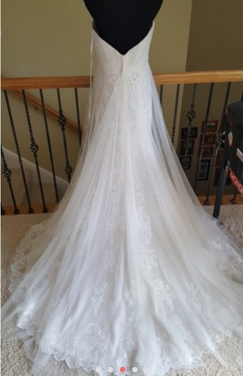 Stella York Worn Once For 4 Hours. Altered To Fit 5'2 Person. 6341 Lace and Tulle Gown Feminine Wedding Dress Size 8 (M) Image 4