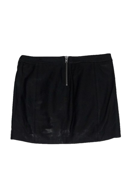 Mason Lamb Leather Mini Skirt Black Image 1