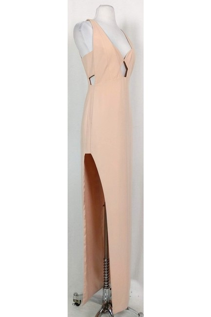 Mason Michelle Blush Gown With Cut Outs Dress Image 1